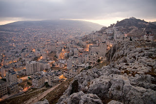 View over Nablus from Mount Gerizim