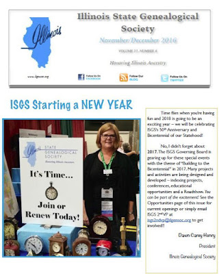 ISGS November/December 2016 Newsletter Now Available!