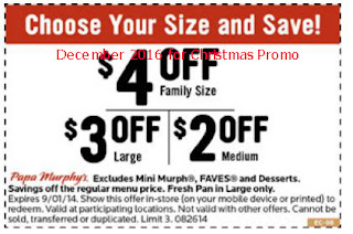 Papa Murphys coupons for december 2016
