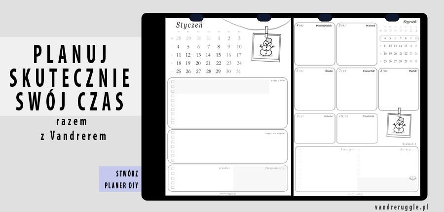 Sowite planery DIY darmowy kalendarz