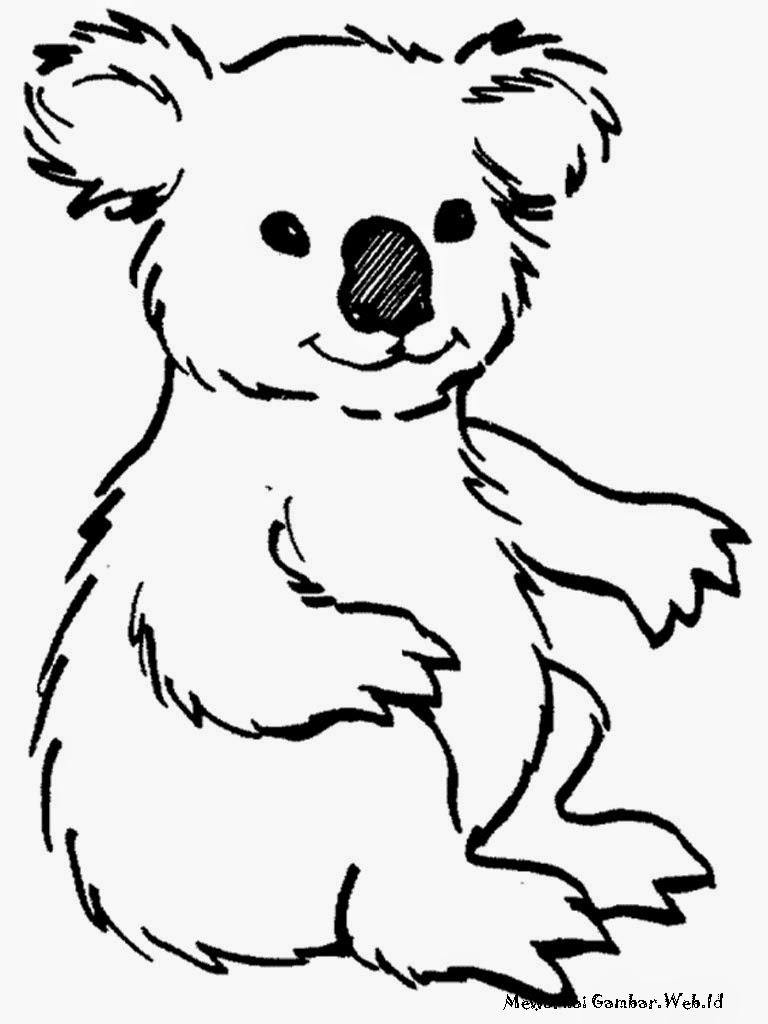 Mewarnai Gambar Koala