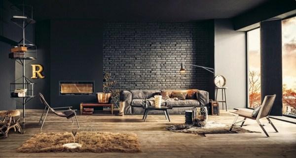 Design Ideas Style Loft Wall Steel Furniture Dark Organic