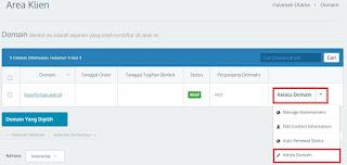 Dashboard Idwebhost terbaru untuk kelola domain