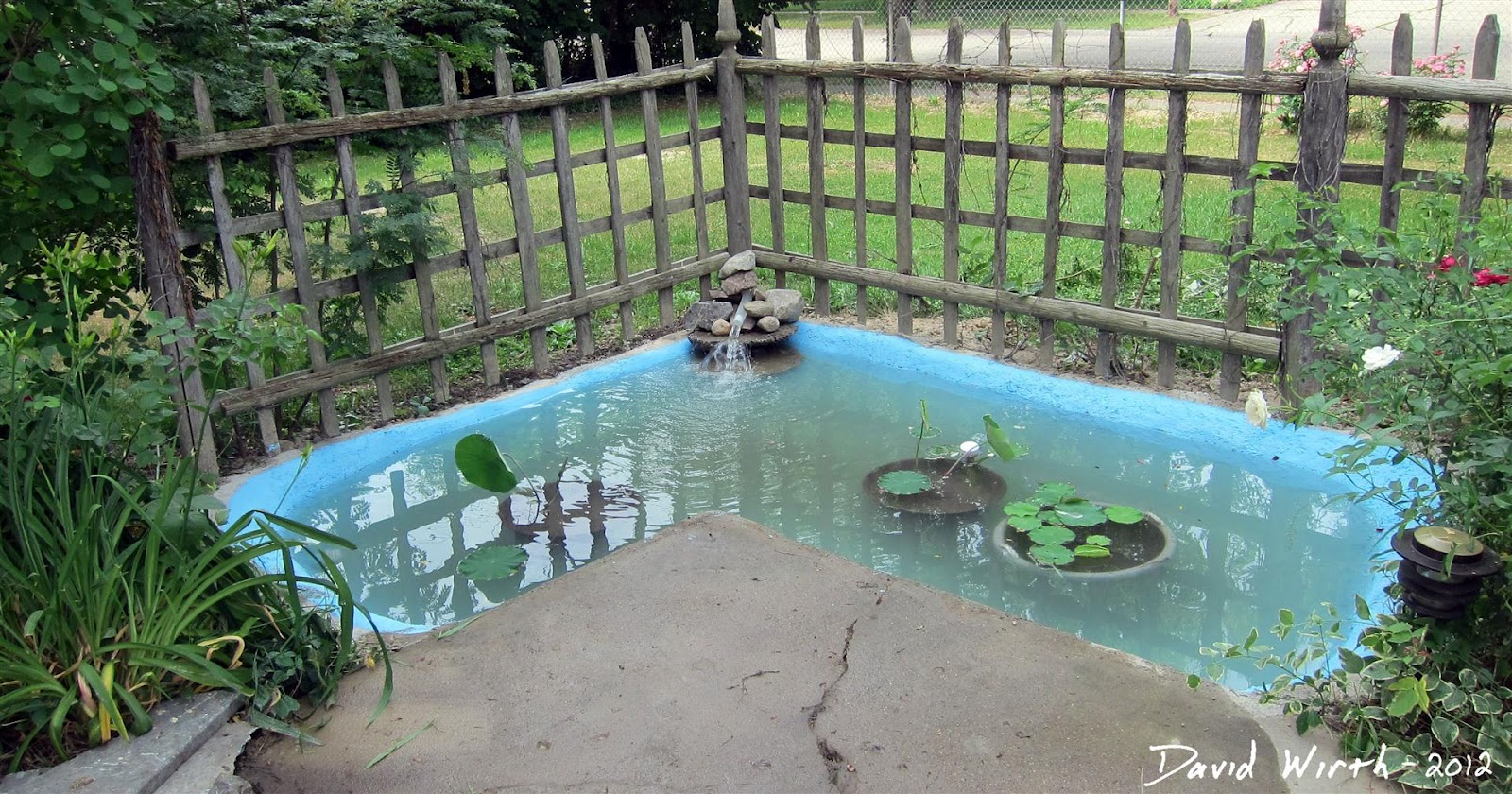 Backyard concrete pond - How to build a swimming pool waterfall ...