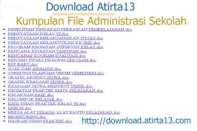 [Dwonload] Kumpulan file Administrasi lengkap 2015-2016