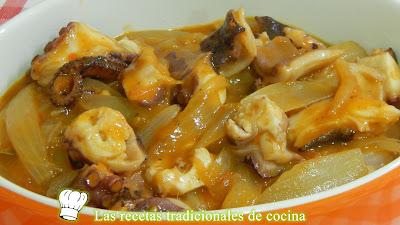 Receta fácil de pulpo muy tierno en salsa