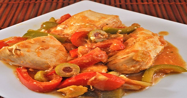 Skillet Chicken With Peppers And Olives Recipe