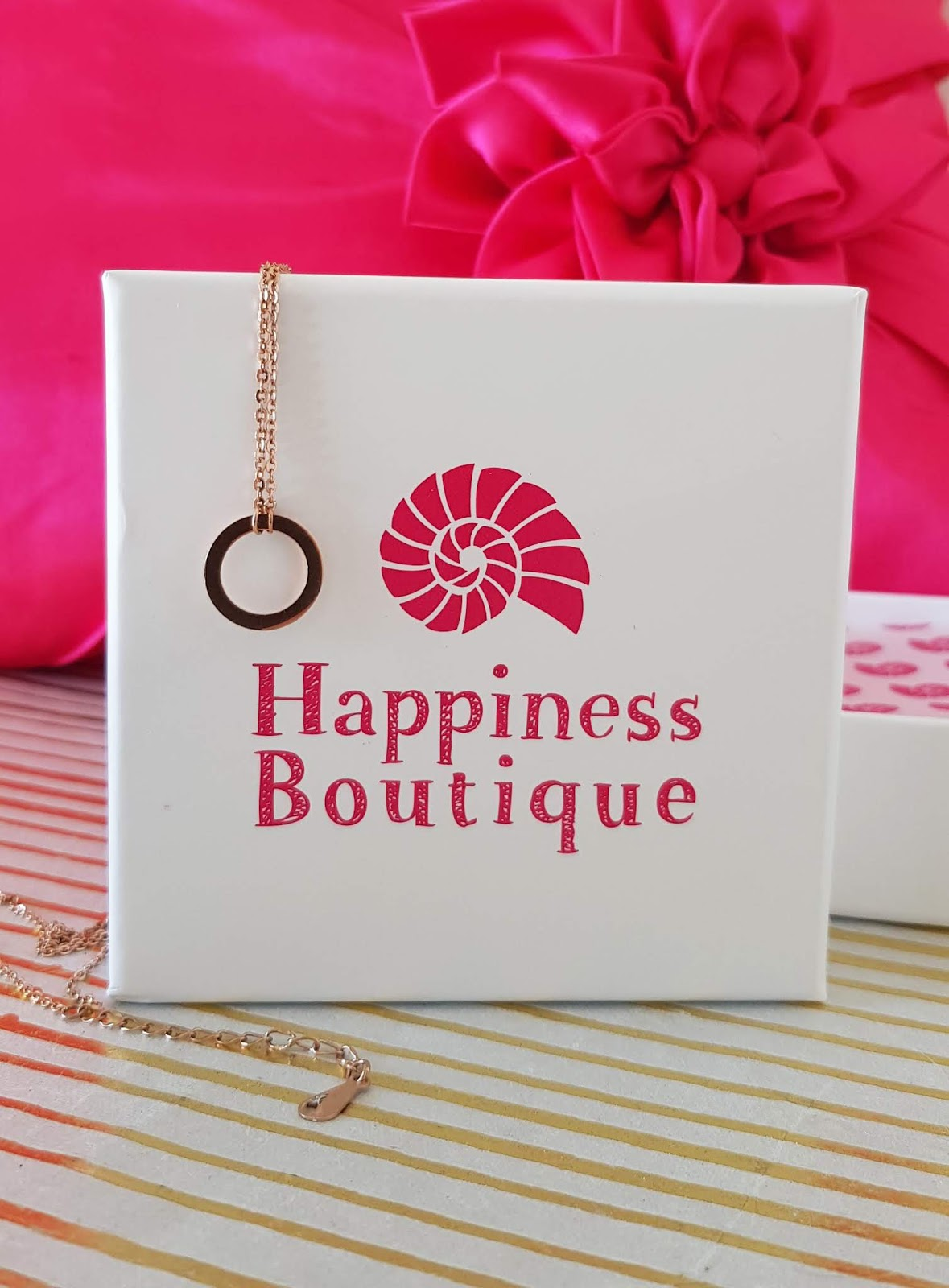 Image showing a jewellery box and necklaces from Happiness Boutique