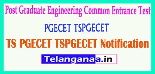 TS Telangana PGECET TSPGECET 2018 Notification Download