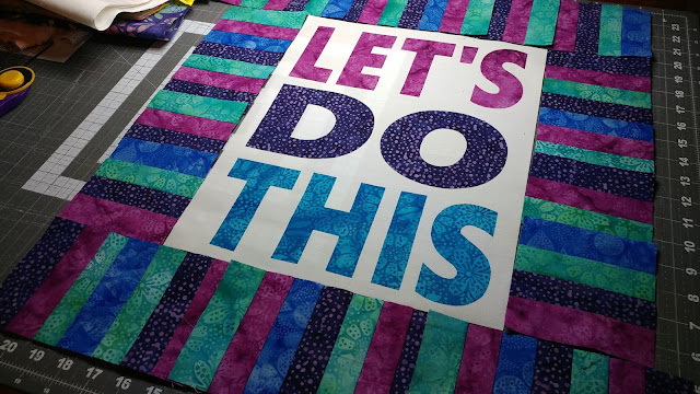Let's Do This mini quilt