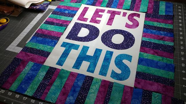 Let's Do This mini quilt