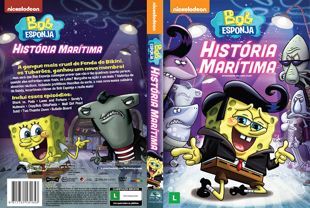 Capa DVD Bob Esponja História Marítima [Exclusiva]