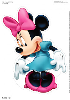 Minnie Mouse: Free Printable Centerpieces.