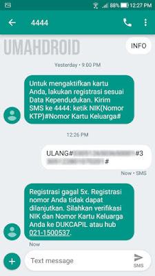 Cek status registrasi kartu IM3