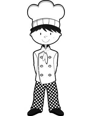 Boston chefs valentines day printable coloring pages ~ Little Chefs Coloring Pages To Kids