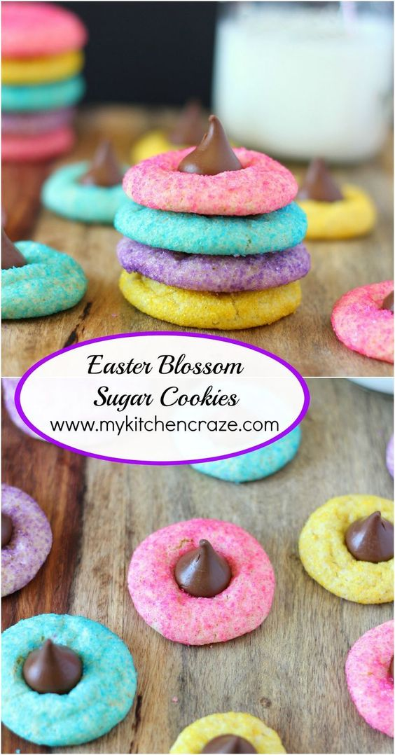 Easter Blossom Sugar Cookies