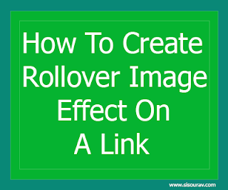 How to create rollover image effect
