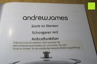 Anleitung: Andrew James 3,5L Sizzle to Simmer 2 in 1 Digitaler Schongarer mit Entnehmbarer Aluminiumbratpfanne – Zum Braten, scharf Anbraten, Sautieren und Dämpfen – 2 Jahre Garantie