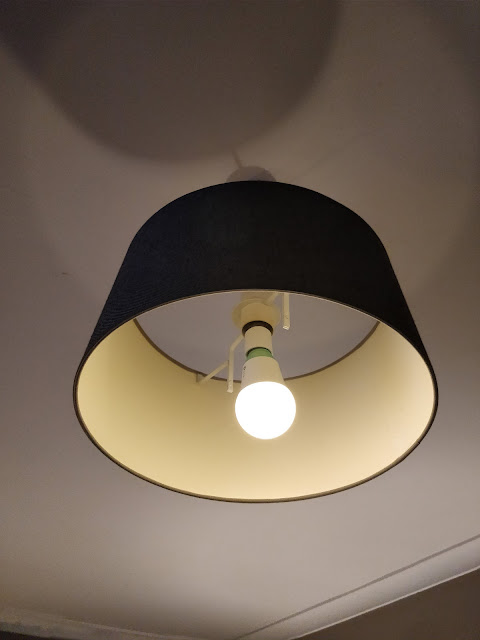 overhead light with wifi-enabled bulb