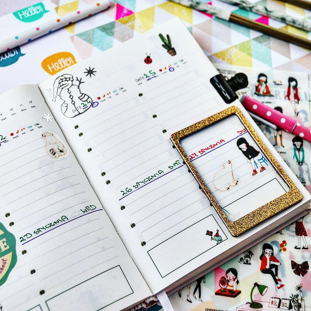 owadzić planner, kolorowy planner, planner tygodniowy, planner w zeszycie