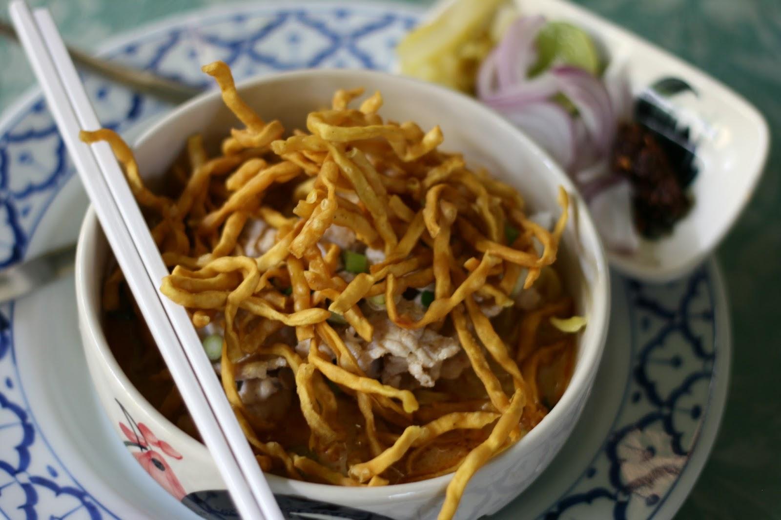 Thai curry, Khao soi, chicken khoa soi, chiang mai