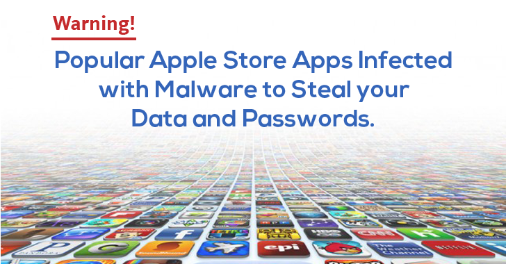 Warning! Popular Apple Store Apps Infected with Data-Theft Malware