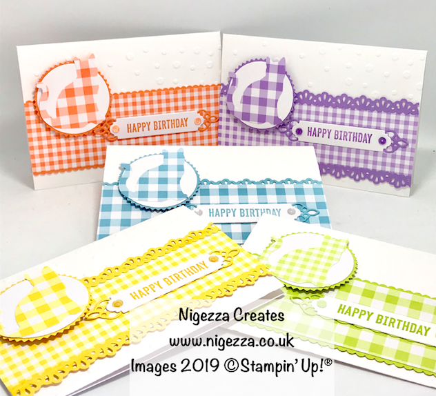 Gingham Gala Cat Punch Stampin Up