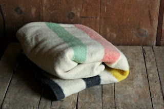 vintage striped throw blanket