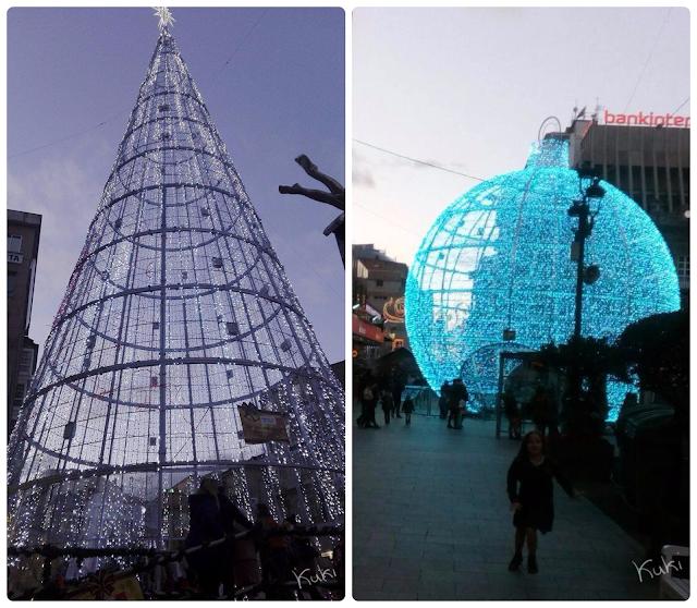 iluminacion calle del principe, Vigo, iluminação da rua do principe, Navidad, decoração de Natal