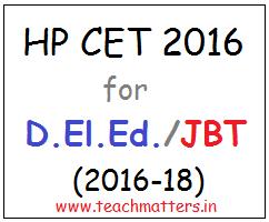 image : HP CET-2016 for D.El.Ed. (JBT) 2016-18 @ TeachMatters