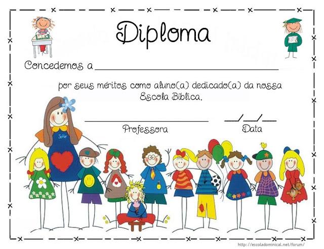 Diploma para preencher e imprimir