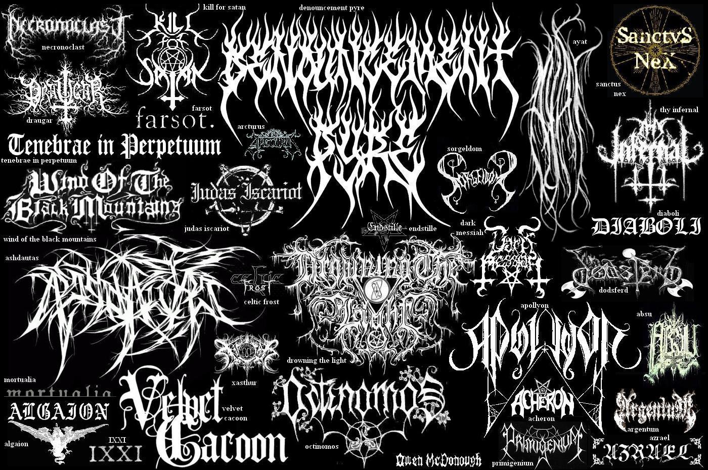 illegible black metal logo - photo #2