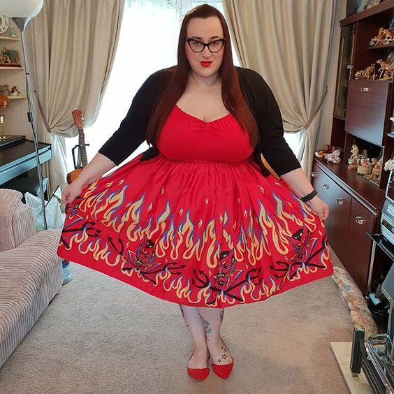 Vixen Ben Cooper Devil Print skirt
