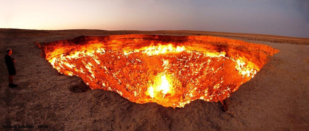 بوابة الجحيم في تركمانستان !