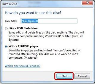 Cara Burn File di Windows 7 Tanpa Software