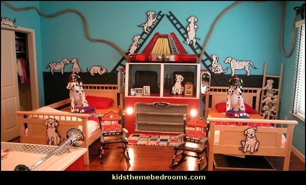 fire truck theme bedrooms-transportation theme bedrooms