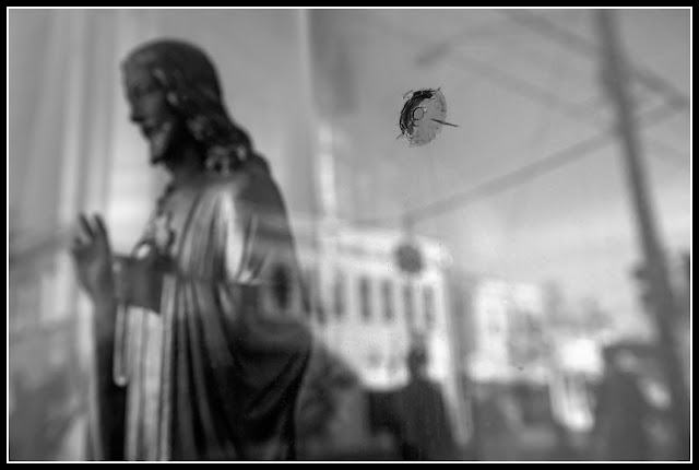 Northside; Cincinnati;Jesus; Bullet Hole; Reflection