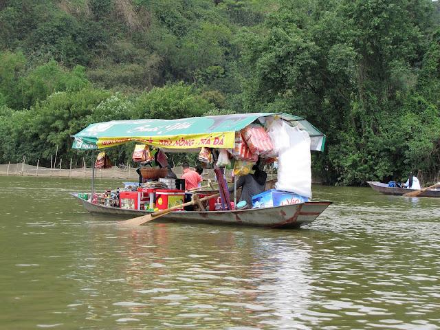 convience store boat perfume pagoda yen river vietnam