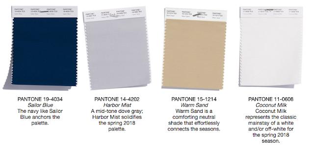Pantone Spring 2018 Classic Color Palette