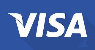 jenis desain logo tipe wordmark visa