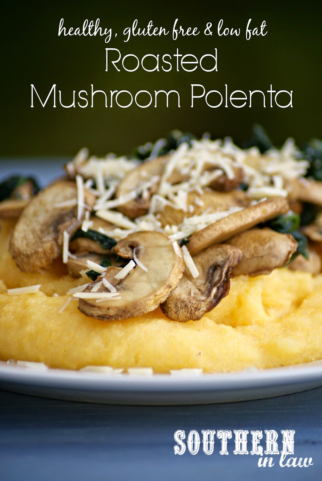 Healthy Roasted Mushroom Polenta Recipe - gluten free, healthy, low fat, vegan