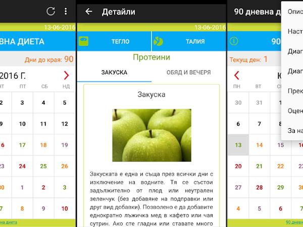 TL;DR: Мобилно приложение за 90-дневната диета