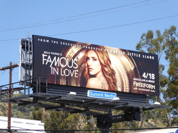 Famous in Love series premiere billboard