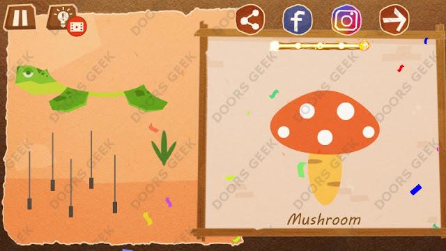 Chigiri: Paper Puzzle Novice Level 24 (Mushroom) Solution, Walkthrough, Cheats