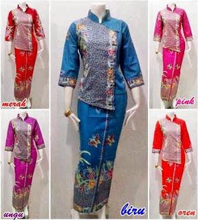 Model Baju Batik Setelan untuk wanita
