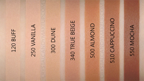 revlon candid foundation swatches