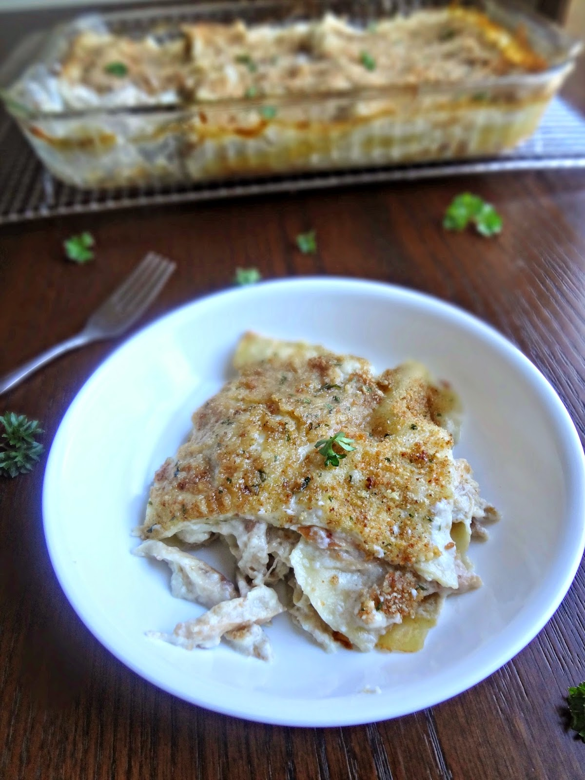 ... don't know what else to say. Garlicky sauce, cheese, noodles, chicken