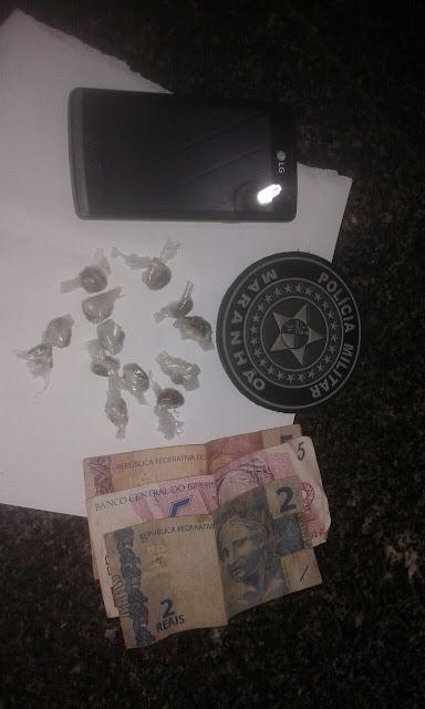 Polícia Militar de Mata Roma prende jovem suspeito de tráfico de drogas