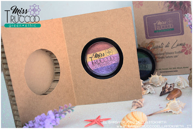 miss trucco eyeshadow palette ombretti terra e acqua mix perfetto viola bronzo  packaging