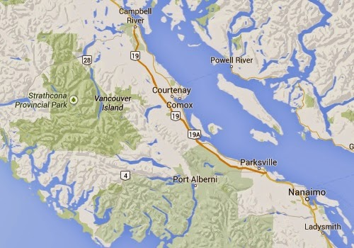 Port_Alberni_earthquake_today_epicenter_map